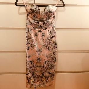ASOS | Strapless Bustier Floral Dress | New